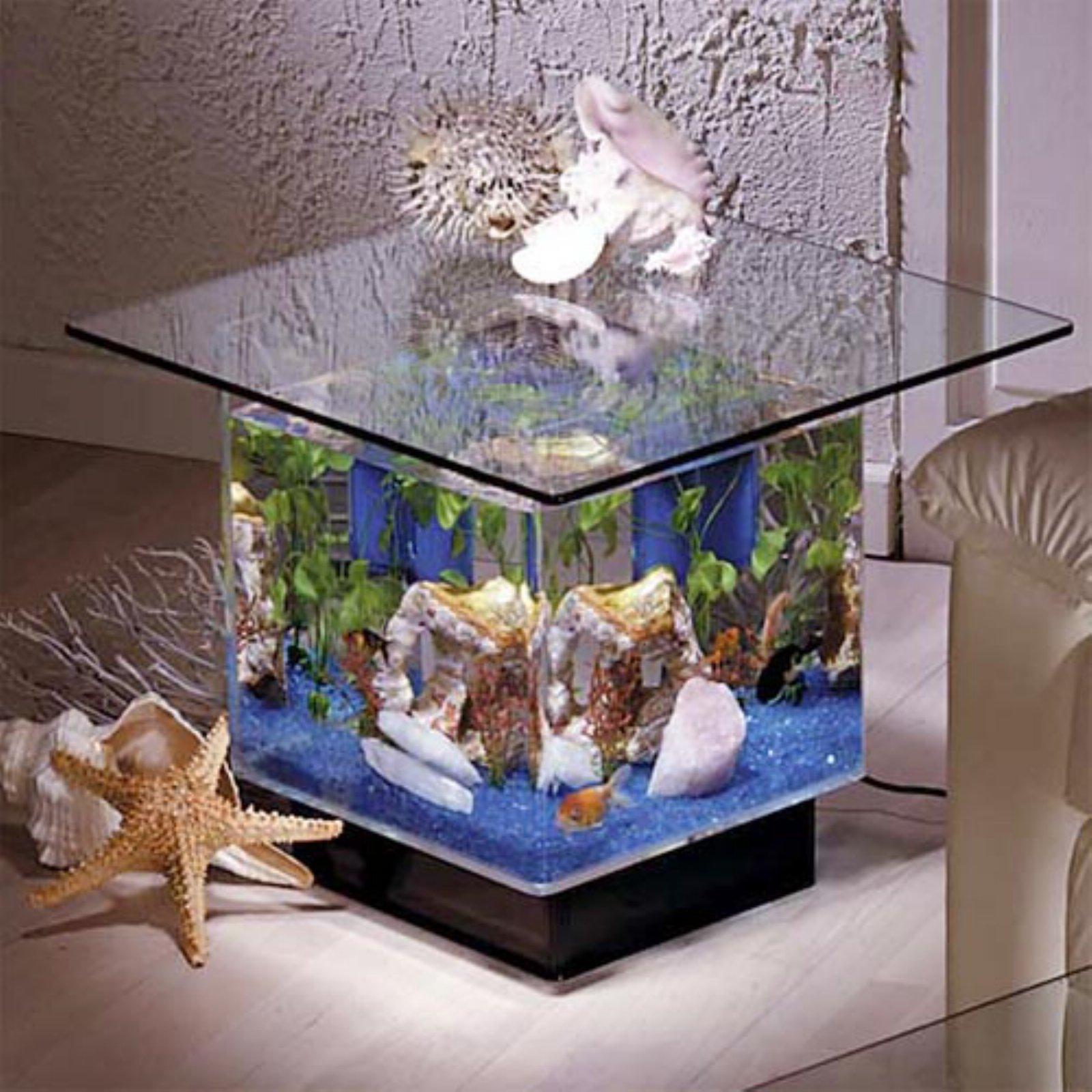 Aqua End Table 15 Gallon Aquarium