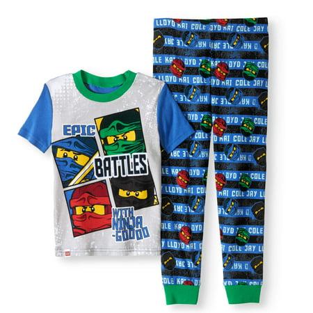 Ninjago Boys' Glow In The Dark 2 Piece Pajama Set