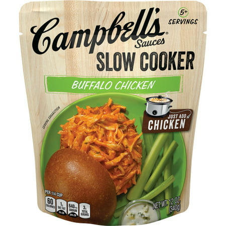 (2 Pack) Campbell's Slow Cooker Sauces Buffalo Chicken, 12 oz. (Blended Chicken Sauce)