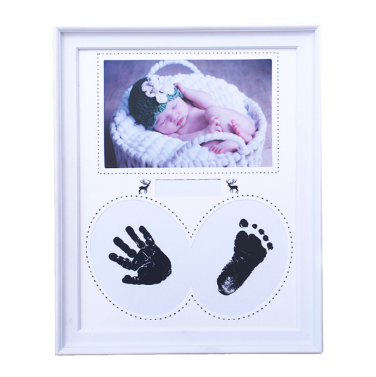 Baby Handprint Kit, Baby Shower Keepsake Kit For Parents, Baby Handprint and Footprint
