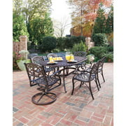 """Home Styles Biscayne 7 Piece 72"""" Oval Dining Set with 2 Swivel & 4 Arm Chairs, Multiple Finishes"""