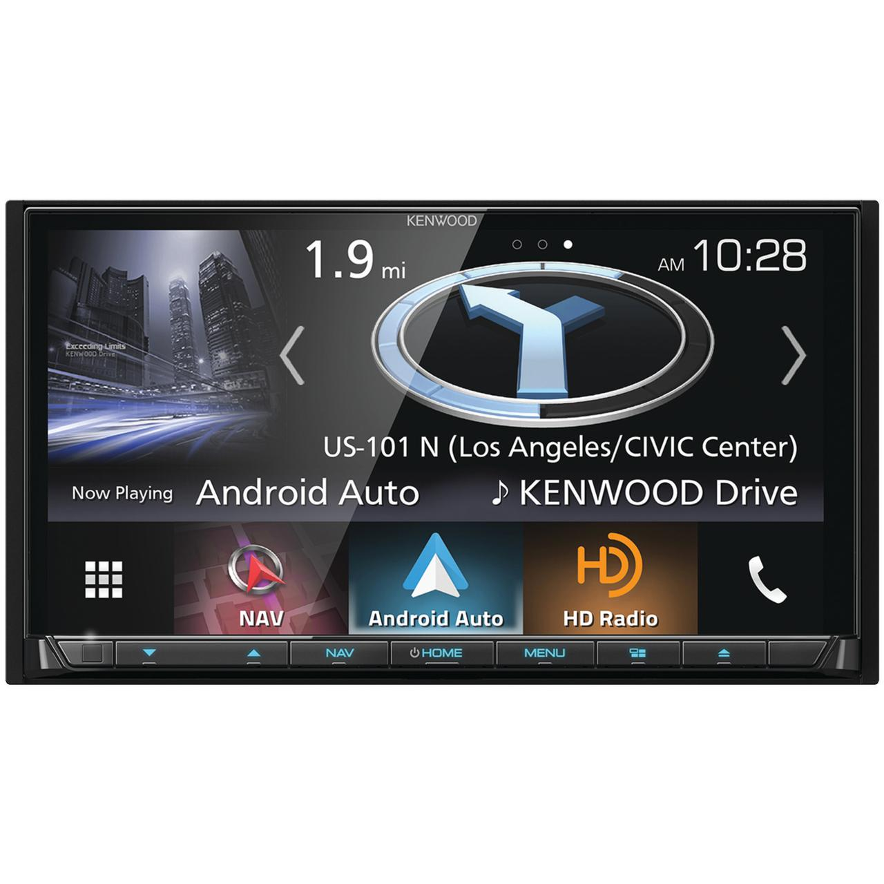 "Kenwood DNX874S 6.95"" Double-Din In-Dash Navigation DVD Receiver With Bluetooth, Apple Carplay, Android Auto, HD Radio & SiriusXM Ready"