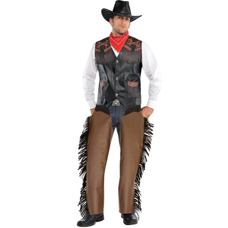 Cowboy For Halloween (AMSCAN Cowboy Chaps Halloween Costume Accessories for Men,)