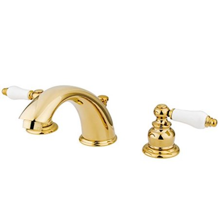 Element Spring - Elements of Design Hot Springs EB972B Widespread Lavatory Faucet with Retail PopUp, 8Inch to 16Inch, Polished Brass