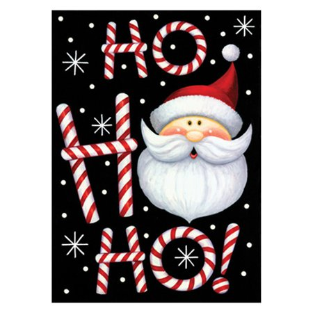 Toland Home Garden Ho Ho Ho Santa Double Sided Flag for $<!---->