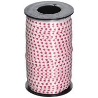Valentines Red Hearts Printed Curling Ribbon, 3/16-Inch Wide - 500-Yard