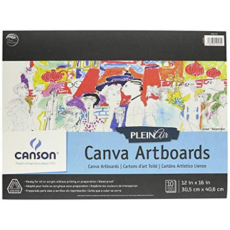 - Plein Air Artist Canvas Board: 9 x 12 inches