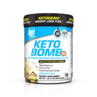 BPI Health Keto Bomb Ketogenic Creamer Powder, French Vanilla Latte, 16.5 Oz, 18 Servings