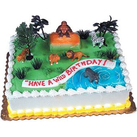 Wild Rainforest Cake Kit Adornments 6 Kits