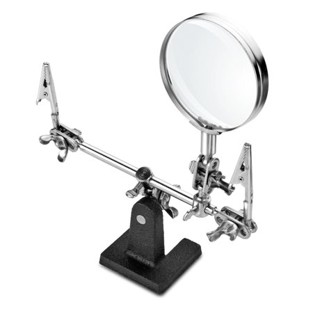 Helping 3Rd Hand Magnifier Tool Soldering Iron Base Stand With Vise Clamp   3X Magnifying Glass Precision Useful To Electrician Engineers Jewelers For Hobbies And Jewelry