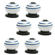 Uxcell Ceramic Knobs Pull Handle Furniture Cabinet Dresser Cupboard Knobs Accessories Replacement White 6pcs