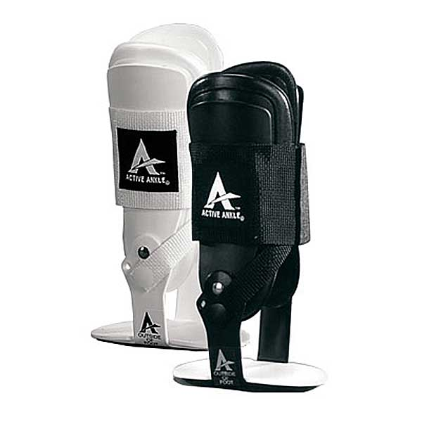 Active Ankle T2 Rigid Ankle Brace, White, Small