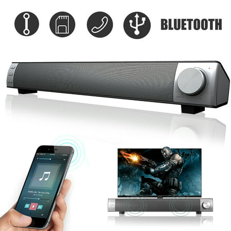 Powerful 360° Stereo 3D Surround Sound Bar Wireless Bluetooth Speaker System Home Theater Amplifier Subwoofer For TV PC Desktop Laptop Tablet Smartphone (Sound Bar For Laptop)