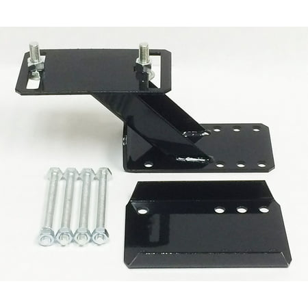 Heavy Duty Trailer Spare Tire Wheel Mount Holder Bracket Carrier for 6 & 8 lugs wheels - 27021 ()