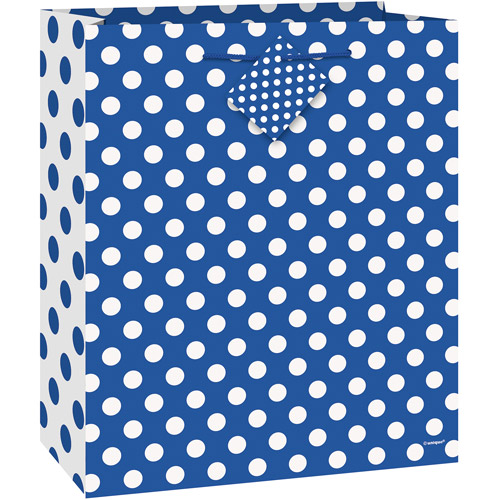Royal Blue Polka Dot Gift Bag
