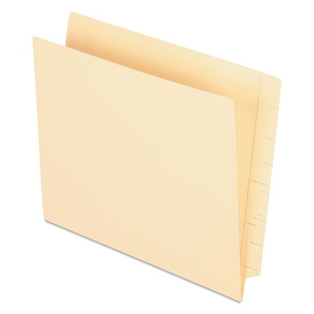Pendaflex Manila End Tab Pocket Folders, Straight Tab, Two-Ply, Letter, Manila, 50/Box