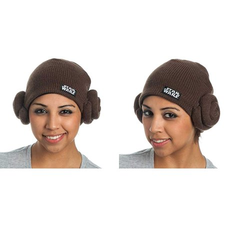 Star Wars Princess Leia Buns Adult Costume Knit - Medieval Princess Hat