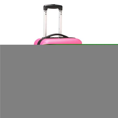 Denco Sports Luggage CLSDL204-PINK 20 in. South Dakota 8 Wheel ABS Plastic Hardsided Carry-On, Pink - image 1 de 1