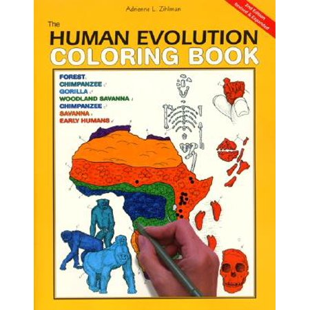 Coloring Concepts: The Human Evolution Coloring Book, 2nd Edition