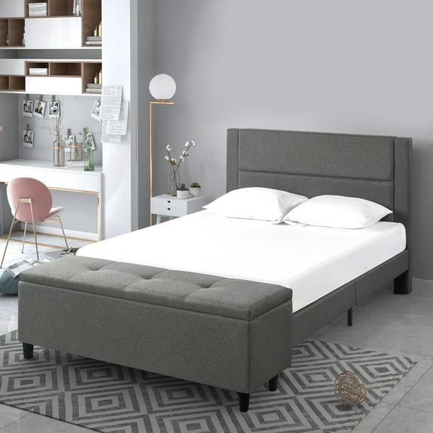 Zinus Wanda 48 Upholstered Platform, Upholstered Platform Bed Queen