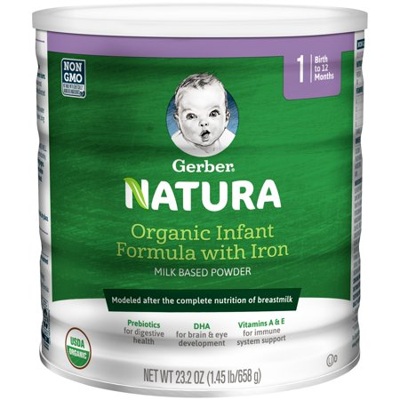 Gerber Natura Organic Powder Infant Formula, Stage 1, 23.2