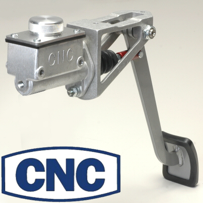Cnc Red Swinging Single Pedal Assembly With Short 3/4 Bore Master Cylinder For Clutch Or Brakes