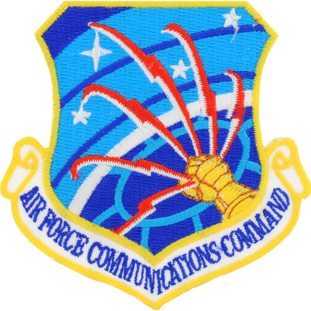 "U.S. Air Force Communications Command Shield Patch 3"""