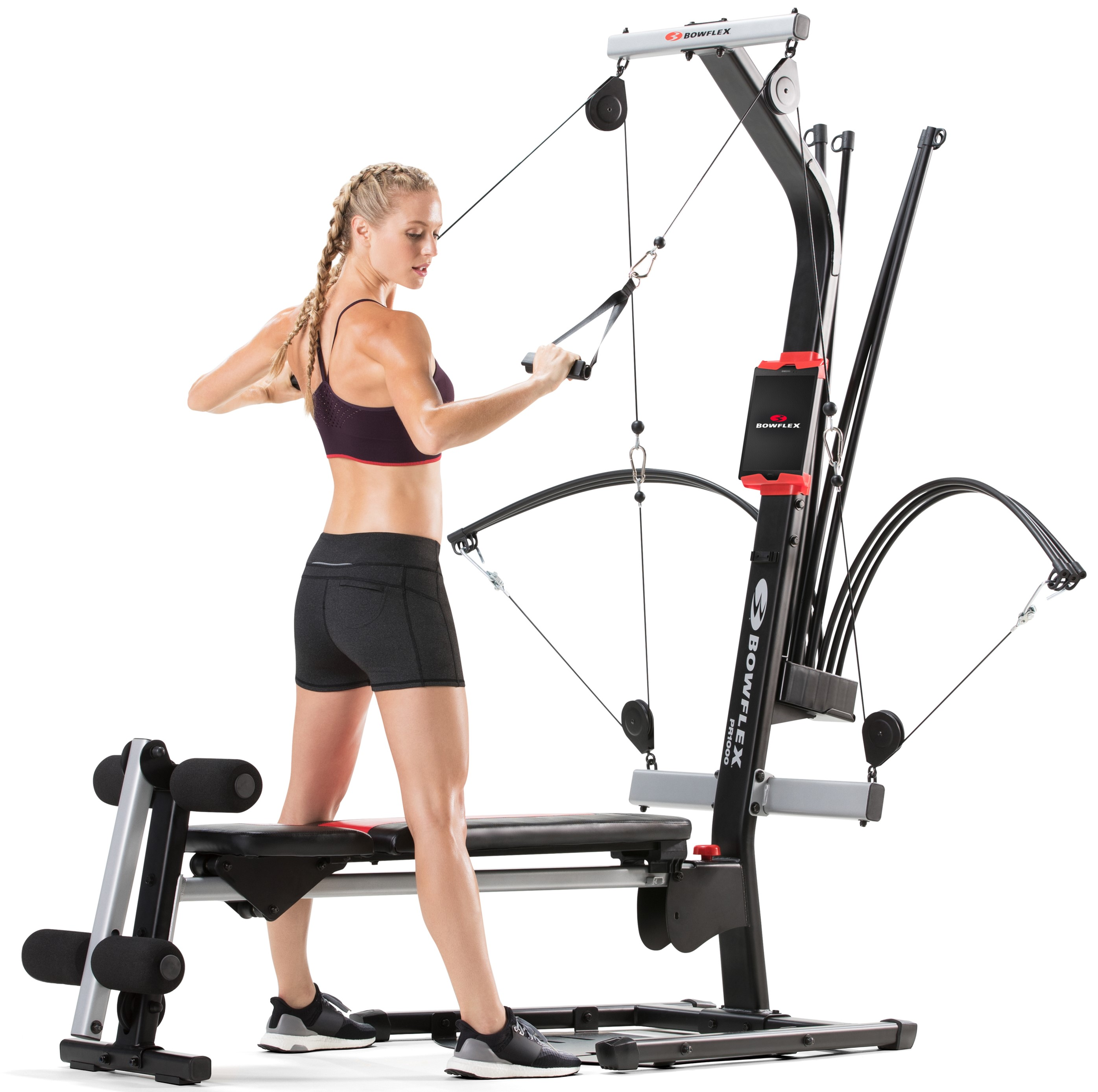 Bowflex PR1000 Home Gym With 25+ Exercises And 200 Lbs. Power Rod Resistance
