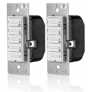 Leviton LTB30-1LZ Decora Preset 30 Minute Countdown Timer Switch (2 Pack)