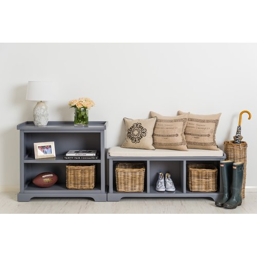 Waltman Bundle Solid Wood Storage Bench With Shelving Unit   Walmart.com