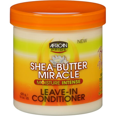 African Pride Shea Butter Miracle Moisture Intense Leave-In Conditioner 15 oz (Pack of 2) African Pride Leave In Conditioner