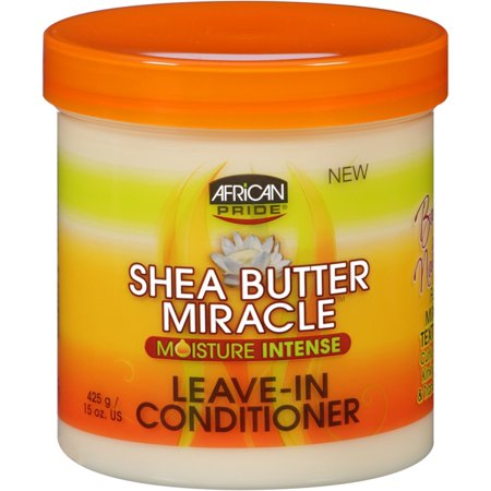 African Pride Shea Butter Miracle Moisture Intense Leave-In Conditioner 15 oz (Pack of