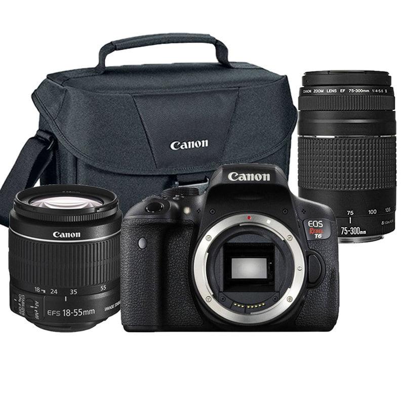 Canon Original EOS Rebel T6/1300D 18MP DSLR Camera Premiu...