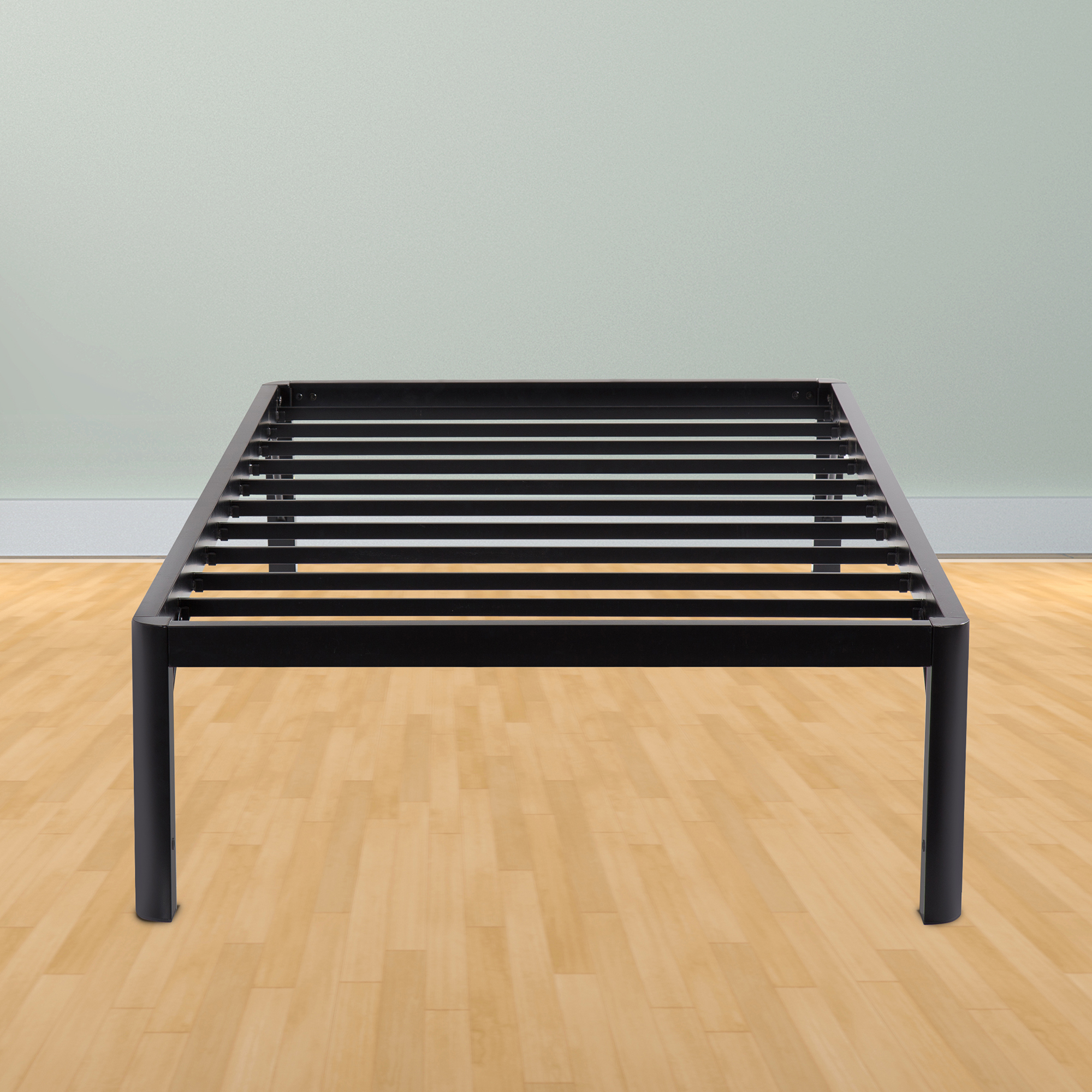 16-Inch High Profile Tall Steel Slat Bed Frame SS-3000   College Bed   School Mattress   TWIN   16 INCH by Grantec Co., Ltd
