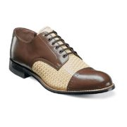Stacy Adams Madison Shoes Brown Multi Leather Woven 00070-249