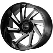 "Tuff T1B (Left) 26x14 8x170 -72mm Black/Milled Wheel Rim 26"" Inch"