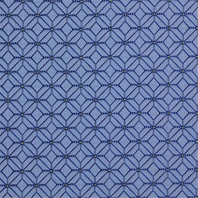 Designer Fabrics K0210A 54 in. Wide Blue And Light Blue Geometric Small Scale Diamonds Upholstery Fabric
