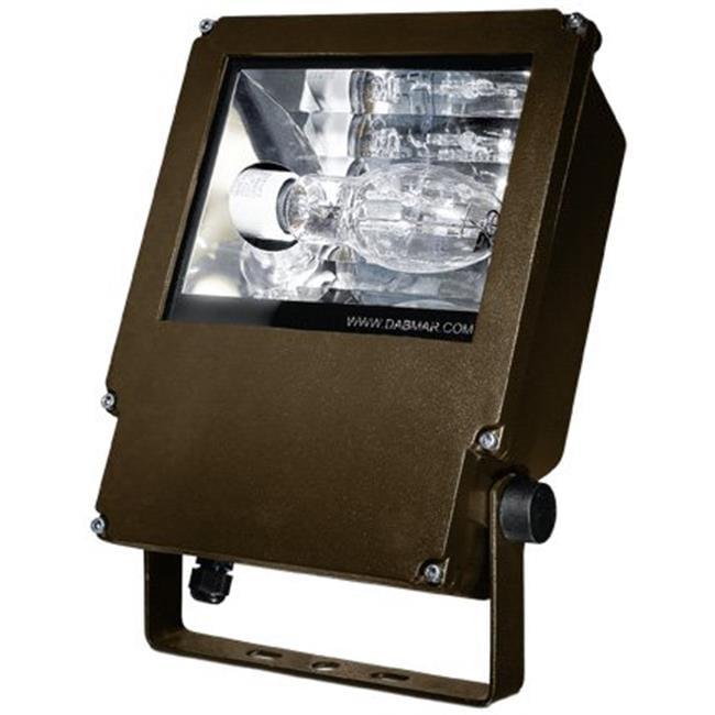 Dabmar Lighting DF6582-BZ 12.90 x 9 x 3.50 in. 120 V 70 watts Powder Coated Cast Aluminum Medium HID Flood Fixture Light with High Pressure Sodium Lamp, Bronze - image 1 de 1