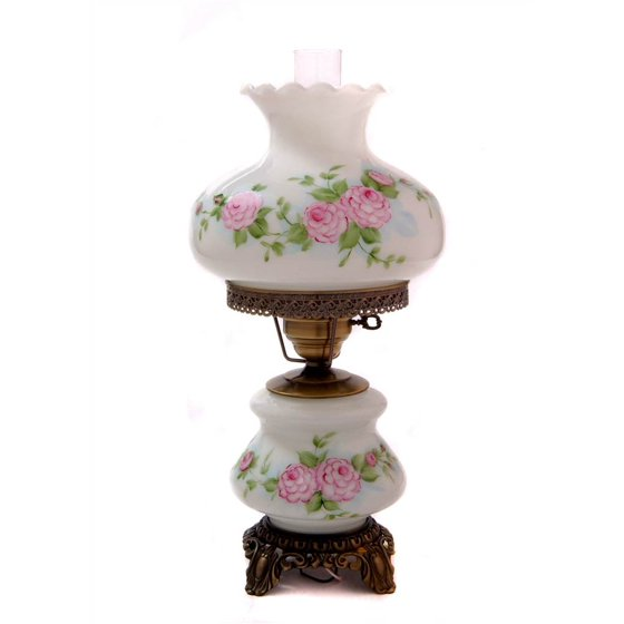 21 in hand painted dianna floral hurricane table lamp walmart hand painted dianna floral hurricane table lamp mozeypictures Choice Image