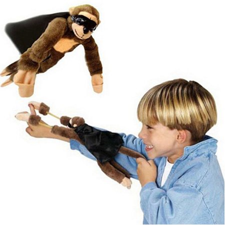 Slingshot Flingshot Flying Screaming Monkey Plush Toy - Slingshot Toy