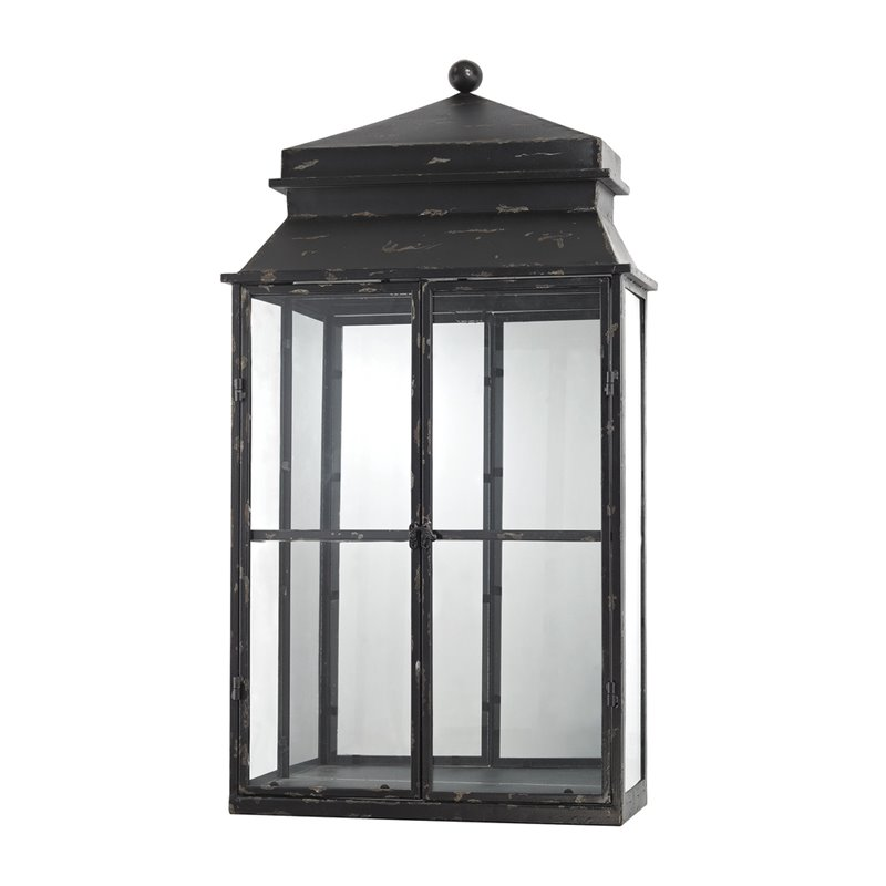 Sterling Shelf Curio Cabinet in Antique Black
