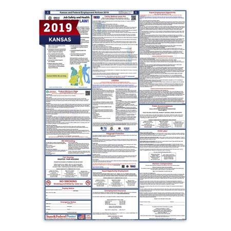 2019 Kansas State and Federal Labor Law Poster (Laminated)