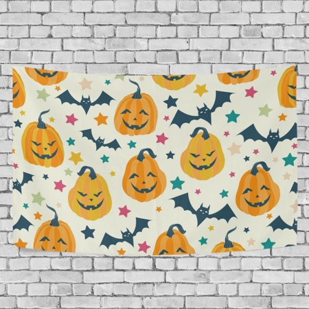 MYPOP Halloween Icons Tapestry Wall Hanging Decoration Home Decor Living Room Dorm 80x60 inches - Halloween Dorm Room Decorations