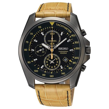 SNDD69P1,Men's Chronograph,stainless steel case,leather strap,date,100m WR,SNDD69 ()