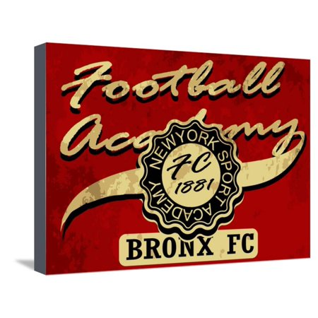 Newyork Football Academy College Tee Graphic Stretched Canvas Print Wall Art By emeget College Football Art