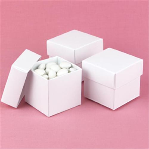 Hortense B.  Hewitt 90217P White Shimmer 2 Piece Favor Boxes