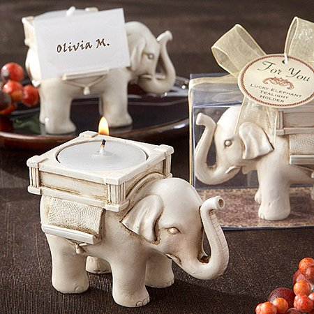 bfb5efad9fa Lucky Elephant Antique Tealight Holder
