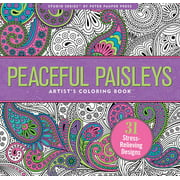 Peaceful Paisleys Adult Coloring Book (31 Stress-Relieving Designs) (Paperback)