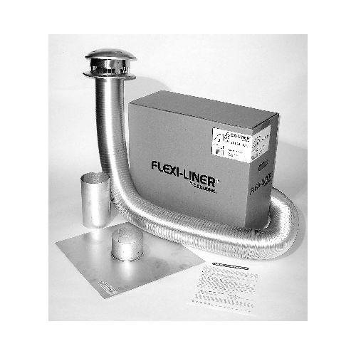 "METALBEST AF35-07 7"" x 35-Foot Flexible Liner Aluminum Fl..."