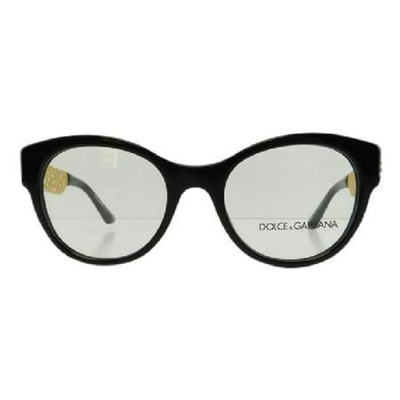 New Dolce & Gabbana DG 3185 501 Black Gold Plastic Eyeglasses (D & G Eyeglass Frames)
